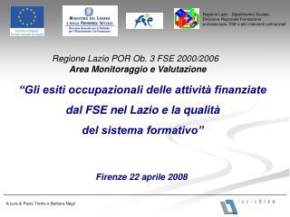 Regione Lazio - Dipartimento Sociale