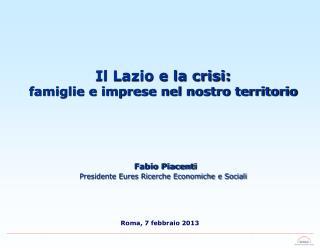 Roma, 7 febbraio 2013