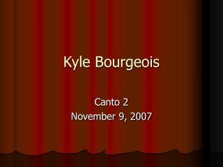 Kyle Bourgeois