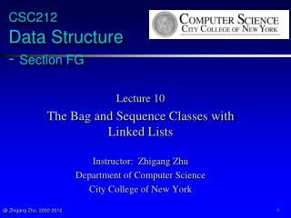 CSC212  Data Structure  -  Section FG