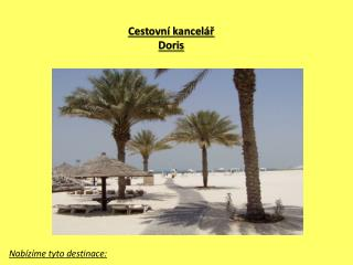 Cestovní kancelář  Doris
