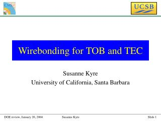 Wirebonding for TOB and TEC