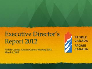 Executive Director ' s Report 2012