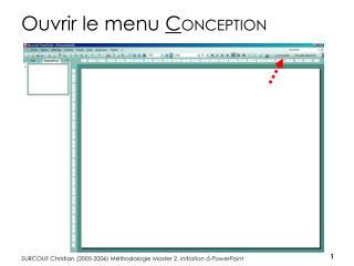 Ouvrir le menu  C ONCEPTION