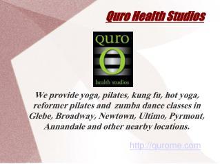 Yoga Classes at Quro Health Studios