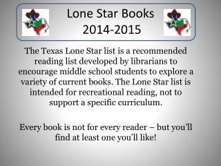 Lone Star Books  2014-2015