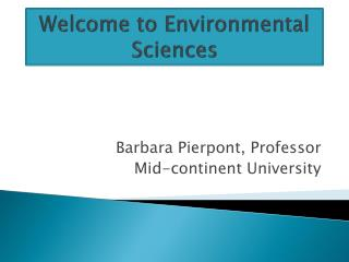 Welcome to Environmental Sciences