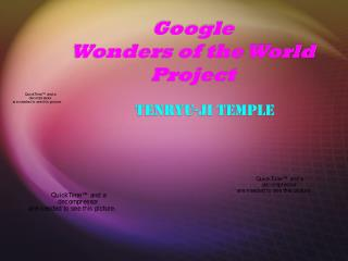 Google Wonders of the World Project