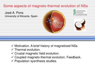 Some aspects of magneto-thermal evolution of NSs