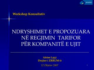 Workshop Konsultativ