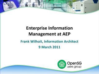 Enterprise Information Management at AEP