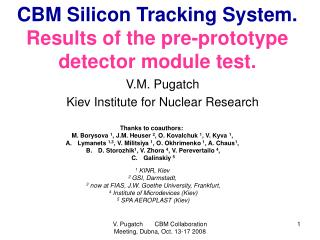 CBM Silicon Tracking System. R esults of the  pre- prototype detector module test .