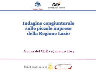 A cura del CER - 19 marzo 2014