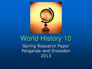 World  History 10