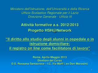Istituto Comprensivo Maffi  (ex Scuola Media Don Morosini) Scuola Polo Ospedaliera Lazio
