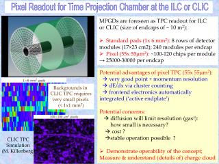 Pixel Readout for Time Projection Chamber at the ILC or CLIC