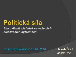 Politická síla