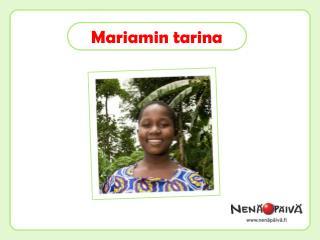 Mariamin  tarina