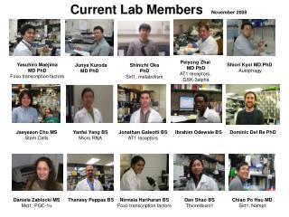 Current Lab Members    November 2008
