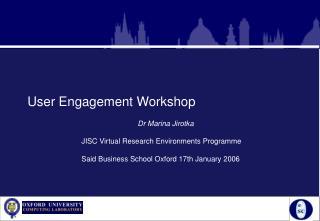 User Engagement Workshop