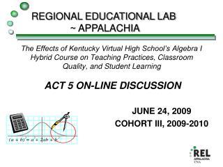 JUNE 24, 2009 COHORT III, 2009-2010