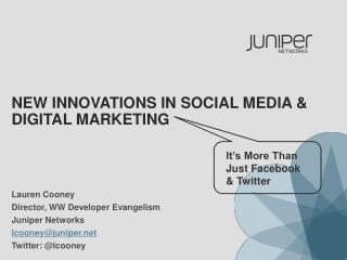 New Innovations in social media & digital marketing