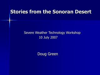 Stories from the Sonoran Desert