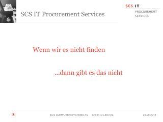 SCS IT Procurement Services