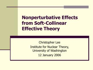 Nonperturbative Effects from Soft-Collinear Effective Theory