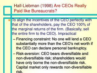 Hall-Liebman 1998 Are CEOs Really Paid like Bureaucrats