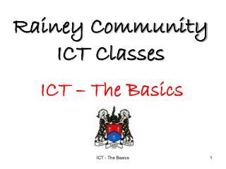 Rainey Community ICT Classes