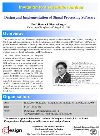Invitation to a scientific seminar