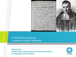 4 th  ANZ SRA Conference  Uncertainty analysis workshop