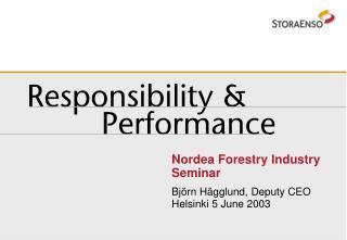 Nordea Forestry Industry Seminar