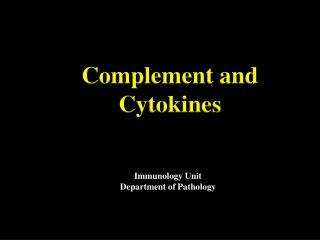 Immunology Unit Department of Pathology