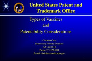 Types of Vaccines  and Patentability Considerations