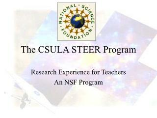 The CSULA STEER Program