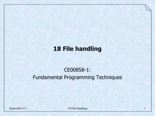 18 File handling