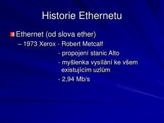 Historie Ethernetu