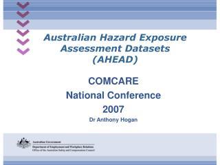 Australian Hazard Exposure Assessment Datasets (AHEAD)