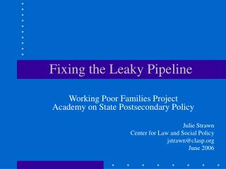 Fixing the Leaky Pipeline