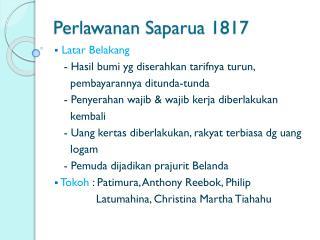 Perlawanan Saparua  1817