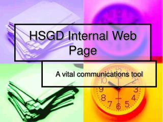 HSGD Internal Web Page