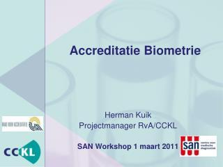 Accreditatie Biometrie