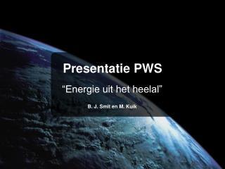 Presentatie PWS