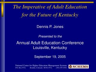 The Imperative of Adult Education for the Future of Kentucky