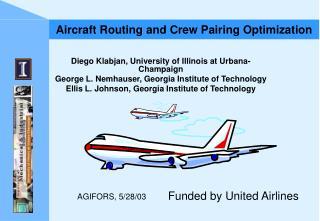 Aircraft Routing and Crew Pairing Optimization
