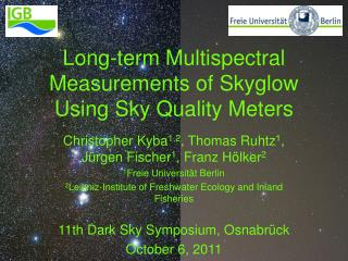 Long-term Multispectral Measurements of Skyglow Using Sky Quality Meters