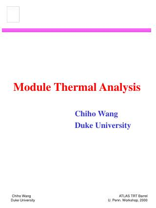 Module Thermal Analysis