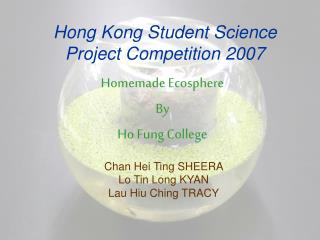 Hong Kong Student Science Project Competition 2007